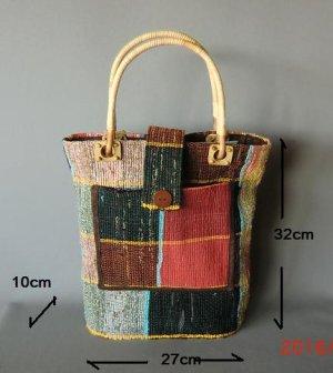 画像1: 裂き織手提げ1