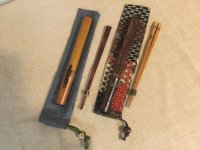 漆塗り箸ケースと煤竹箸