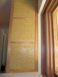 竹編天井、建具2